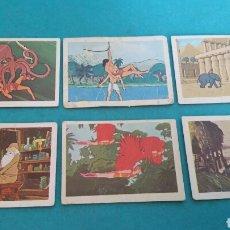 Coleccionismo Cromos antiguos: 7 CROMOS PANRICO TARZAN 1979. Lote 112518956