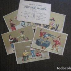 Coleccionismo Cromos antiguos: COMERCIO SEDAS DOROTEO GARCIA -COLECCION 6 CROMOS -FINALES DEL SIGLO XIX-VER FOTOS-(V-13.471). Lote 112645467