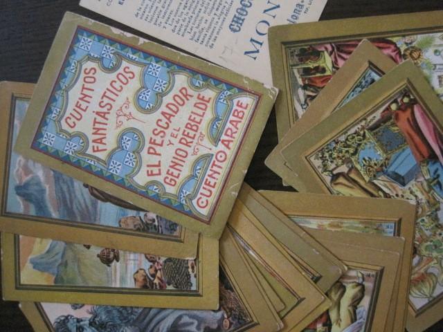 Coleccionismo Cromos antiguos: CUENTOS FANTASTICOS-CUENTO ARABE -CHOCOLATES MONCAU - COMPLETA -20 CROMOS-VER FOTOS-(CR-1059) - Foto 4 - 112658207