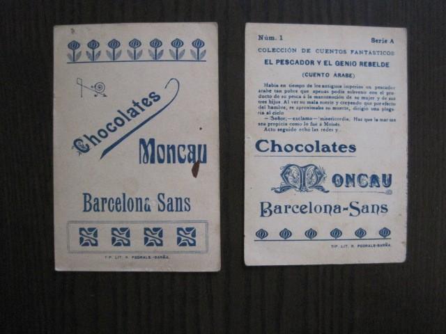 Coleccionismo Cromos antiguos: CUENTOS FANTASTICOS-CUENTO ARABE -CHOCOLATES MONCAU - COMPLETA -20 CROMOS-VER FOTOS-(CR-1059) - Foto 6 - 112658207