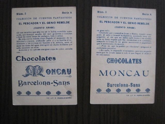 Coleccionismo Cromos antiguos: CUENTOS FANTASTICOS-CUENTO ARABE -CHOCOLATES MONCAU - COMPLETA -20 CROMOS-VER FOTOS-(CR-1059) - Foto 8 - 112658207