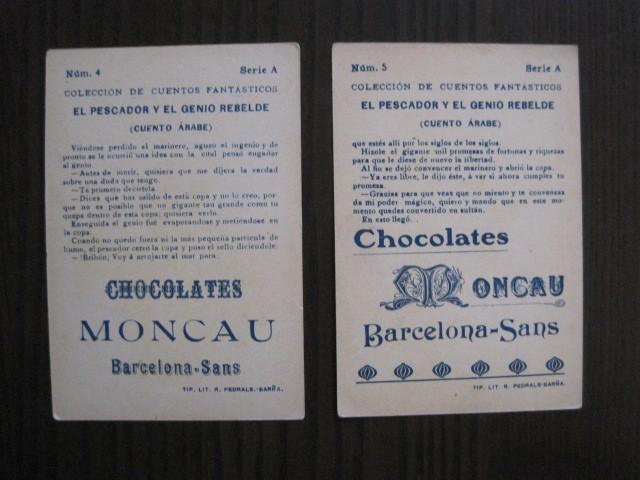 Coleccionismo Cromos antiguos: CUENTOS FANTASTICOS-CUENTO ARABE -CHOCOLATES MONCAU - COMPLETA -20 CROMOS-VER FOTOS-(CR-1059) - Foto 10 - 112658207
