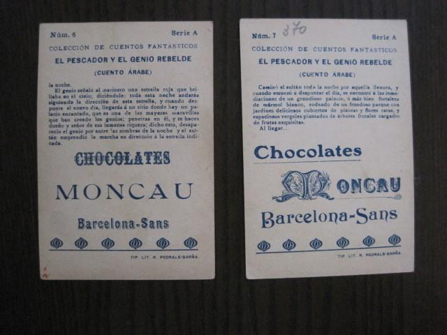 Coleccionismo Cromos antiguos: CUENTOS FANTASTICOS-CUENTO ARABE -CHOCOLATES MONCAU - COMPLETA -20 CROMOS-VER FOTOS-(CR-1059) - Foto 13 - 112658207