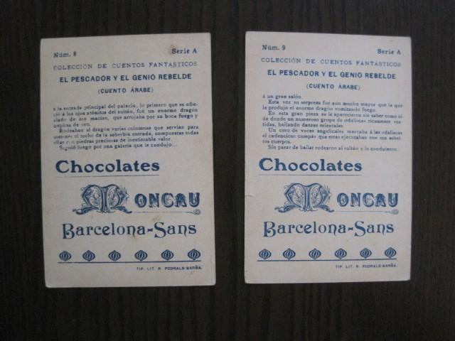 Coleccionismo Cromos antiguos: CUENTOS FANTASTICOS-CUENTO ARABE -CHOCOLATES MONCAU - COMPLETA -20 CROMOS-VER FOTOS-(CR-1059) - Foto 15 - 112658207