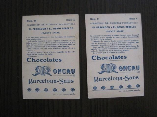 Coleccionismo Cromos antiguos: CUENTOS FANTASTICOS-CUENTO ARABE -CHOCOLATES MONCAU - COMPLETA -20 CROMOS-VER FOTOS-(CR-1059) - Foto 17 - 112658207
