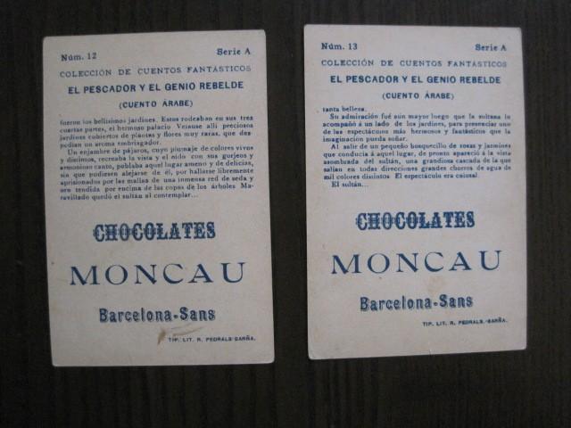 Coleccionismo Cromos antiguos: CUENTOS FANTASTICOS-CUENTO ARABE -CHOCOLATES MONCAU - COMPLETA -20 CROMOS-VER FOTOS-(CR-1059) - Foto 19 - 112658207