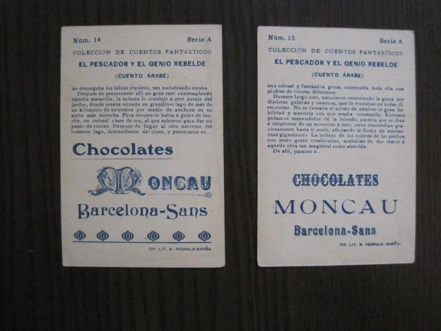 Coleccionismo Cromos antiguos: CUENTOS FANTASTICOS-CUENTO ARABE -CHOCOLATES MONCAU - COMPLETA -20 CROMOS-VER FOTOS-(CR-1059) - Foto 21 - 112658207