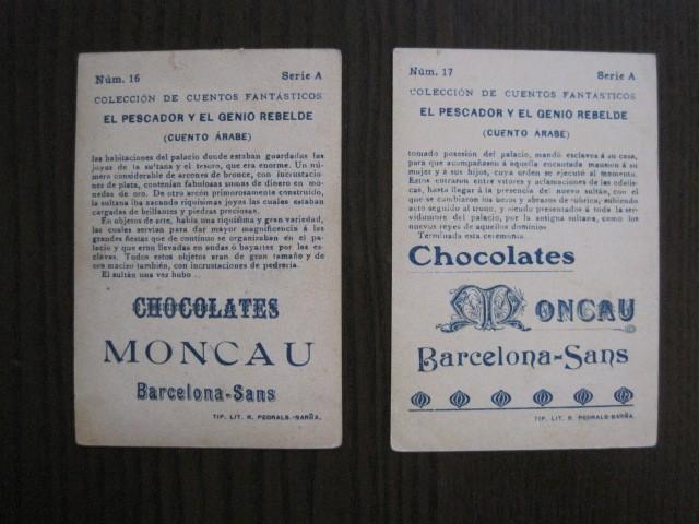 Coleccionismo Cromos antiguos: CUENTOS FANTASTICOS-CUENTO ARABE -CHOCOLATES MONCAU - COMPLETA -20 CROMOS-VER FOTOS-(CR-1059) - Foto 23 - 112658207