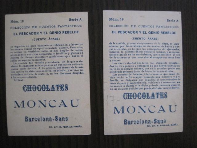 Coleccionismo Cromos antiguos: CUENTOS FANTASTICOS-CUENTO ARABE -CHOCOLATES MONCAU - COMPLETA -20 CROMOS-VER FOTOS-(CR-1059) - Foto 25 - 112658207
