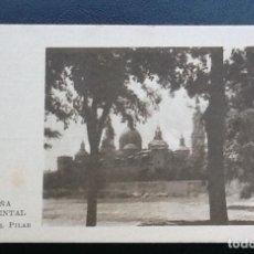 Coleccionismo Cromos antiguos: ESPAÑA MONUMENTAL SERIE I, TEMPLO DEL PILAR, PUBLICIDAD ASPIRINA BAYER. Lote 113337955