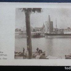 Coleccionismo Cromos antiguos: ESPAÑA MONUMENTAL SERIE I, TORRE DEL ORO, SEVILLA, PUBLICIDAD ASPIRINA BAYER. Lote 113338279