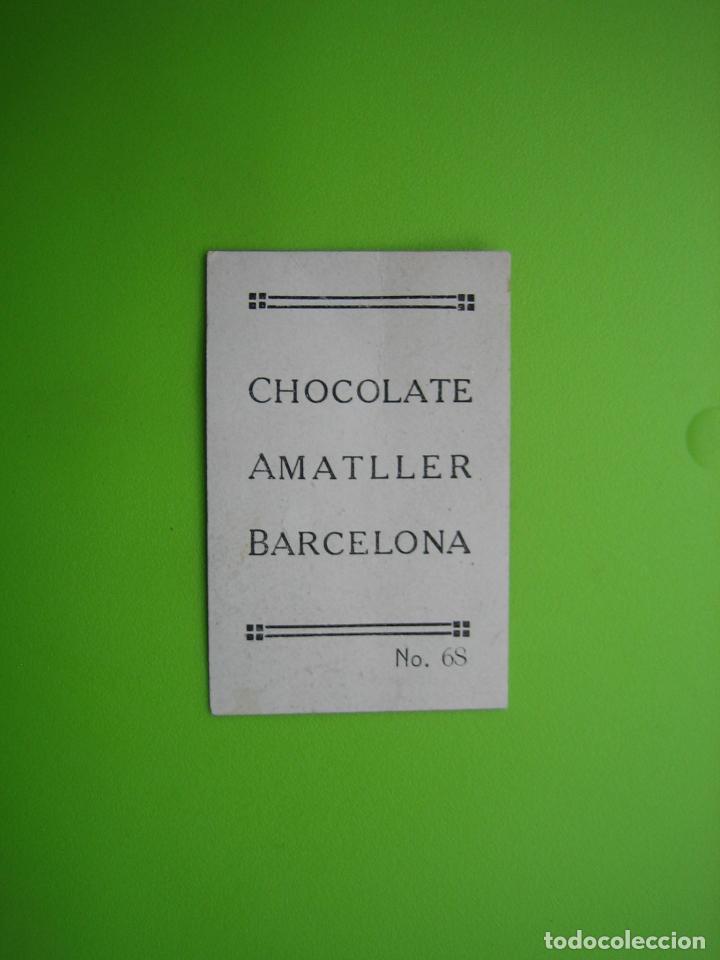 Coleccionismo Cromos antiguos: Cromo religioso chocolates Amatller. Barcelona - Foto 2 - 114065223