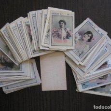 Coleccionismo Cromos antiguos: COLECCION 98 CROMOS ARTISTAS - REVERSO EN BLANCO - POSIBLEMENTE DE TABACO -VER FOTOS-(V-13.694). Lote 114188007