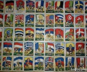 Caballería y banderas nacionales. Completa 50 cromos
