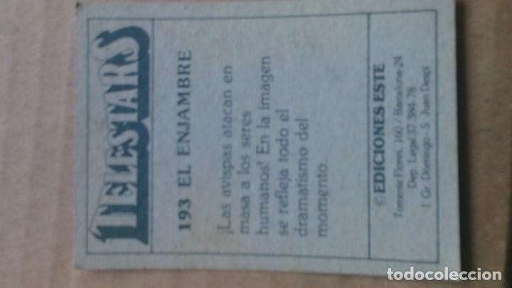 Coleccionismo Cromos antiguos: CROMO TELESTARS N 193 EDICIONES ESTE - Foto 2 - 114995619