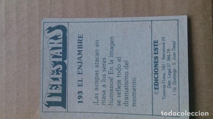 Coleccionismo Cromos antiguos: CROMO TELESTARS N 193 EDICIONES ESTE - Foto 2 - 114995759