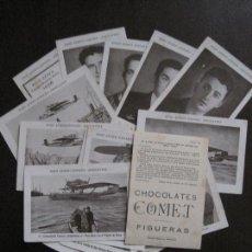 Coleccionismo Cromos antiguos: RAID AEREO ESPAÑA ARGENTINA-NON PLUS ULTRA-COLECCION 20 CR.-PUBLICIDAD CH.COMET-VER FOTOS-(V-13.847). Lote 115694103