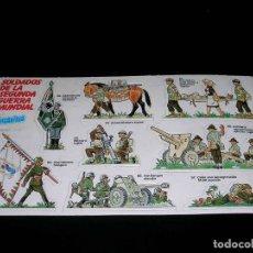 Coleccionismo Cromos antiguos: LÁMINA COMPLETA CROMOS SOLDADOS DE LA SEGUNDA GUERRA MUNDIAL, PREMIUM PHOSKITOS, ORIGINAL 1982.. Lote 115791943