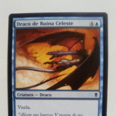 Coleccionismo Cromos antiguos: CARTA MAGIC DRACO DE RUINA CELESTE CRIATURA - DRACO EN ESPAÑOL CROMO TARJETA JUGAR. Lote 116196231