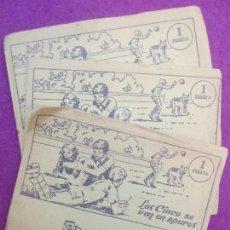 Coleccionismo Cromos antiguos: LOTE 3 SOBRES CROMOS, LOS CINCO SE VEN EN APUROS, ENYD BLYTON, 1972. Lote 116815095