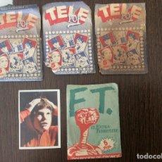 Coleccionismo Cromos antiguos: CROMOS TELEPOP Y E.T EDICIONES ESTE. Lote 116815399