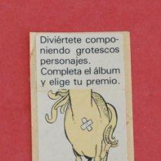 Coleccionismo Cromos antiguos: CROMO CHICLE PUNKY 2000 CABALLO ADHESIVO SIN USAR . Lote 116968239