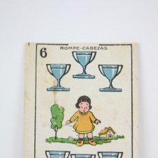 Coleccionismo Cromos antiguos: ANTIGUO CROMO - CHOCOLATES TORRAS - BARAJA, ROMPE CABEZAS - ARTISTA CINE LOMA BROOKS Nº 43. Lote 117194683