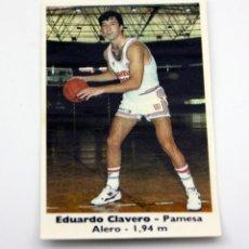 Coleccionismo Cromos antiguos: BOLLYCAO - BASKET CROMOS 88 - 89 - CROMO Nº 111 - NUNCA PEGADO CON TRASERA - EDUARDO CLAVERO. Lote 117579191
