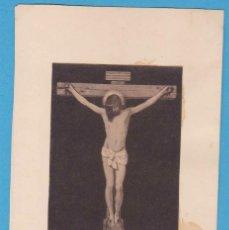 Coleccionismo Cromos antiguos: CRISTO CRUCIFICADO. ESTAMPA PEGADA EN CARTULINA. Lote 118264167