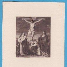 Coleccionismo Cromos antiguos: CRISTO. RUBENS. ESTAMPA PEGADA EN CARTULINA. Lote 118264627
