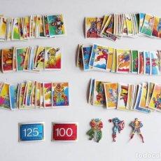 Coleccionismo Cromos antiguos: 146 CROMOS SUPERHEROES FHER, NUNCA PEGADOS Y EN MAGNÍFICO ESTADO. VER LISTADO. SUELTOS DESDE 1 EURO. Lote 119450379