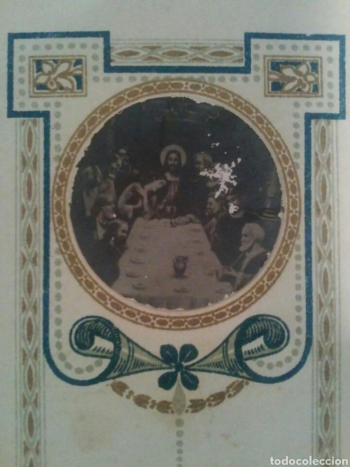 ANTIGUO CROMO O ESTAMPA RELIGIOSO FOTO SOBRE PAPEL (Coleccionismo - Cromos y Álbumes - Cromos Antiguos)