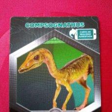 Coleccionismo Cromos antiguos: COMPSOGNATHUS - Nº 6/64 - JURASSIC WORLD - DIANOSAURIOS - SUPERMERCADOS DIA. Lote 127846183