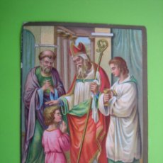 Coleccionismo Cromos antiguos: ANTIGUO CROMO RELIGIOSO. Lote 120710955