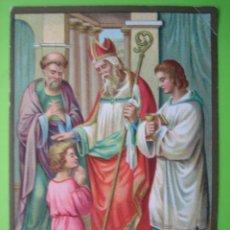 Coleccionismo Cromos antiguos: ANTIGUO CROMO RELIGIOSO. Lote 120844691