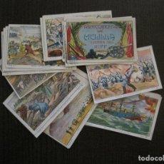 Coleccionismo Cromos antiguos: ACONTECIMIENTOS DE MELILLA - COLECCION COMPLETA 24 CROMOS-CHOCOLATES PI -VER FOTOS-(V-14.524). Lote 121147963