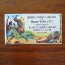 Coleccionismo Cromos antiguos: CROMO DE PUBLICIDAD DE BANÚS VEHIL Y CIA - AGUA DE COLONIA Y AGUA-NAF - MUY BONITO Y EN BUEN ESTADO. Lote 121384159
