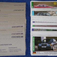 Coleccionismo Cromos antiguos: COCHES 89 - LOTE DE 125 CROMOS. Lote 170905113