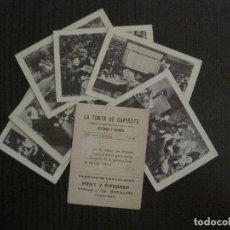 Coleccionismo Cromos antiguos: CINE-COLECCION COMPLETA 8 CROMOS- LA TONTA DE CAPIROTE -CHOCOLATES PRAT -VER FOTOS(V-14.558). Lote 121761583