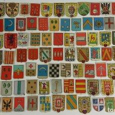 Coleccionismo Cromos antiguos: COLECCIÓN DE 107 CROMOS DE CAJAS DE CERILLAS. ESCUDOS Y HERALDICAS. SIGLO XX. . Lote 121853695