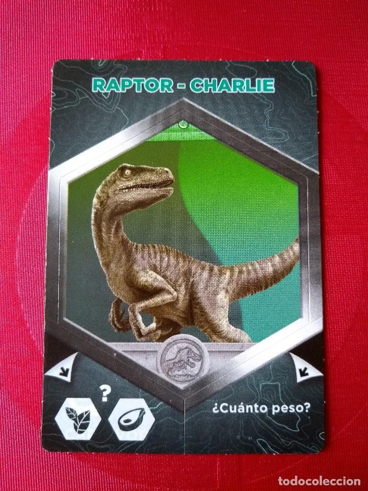 RAPTOR CHARLIE - Nº 15/64 - JURASSIC WORLD - DIANOSAURIOS - SUPERMERCADOS DIA (Coleccionismo - Cromos y Álbumes - Cromos Antiguos)