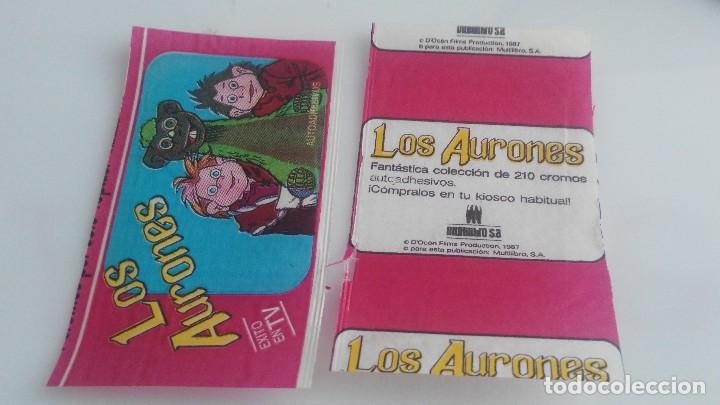 ANTIGUO SOBRE DE CROMOS VACIO LOS AURONES (Coleccionismo - Cromos y Álbumes - Cromos Antiguos)