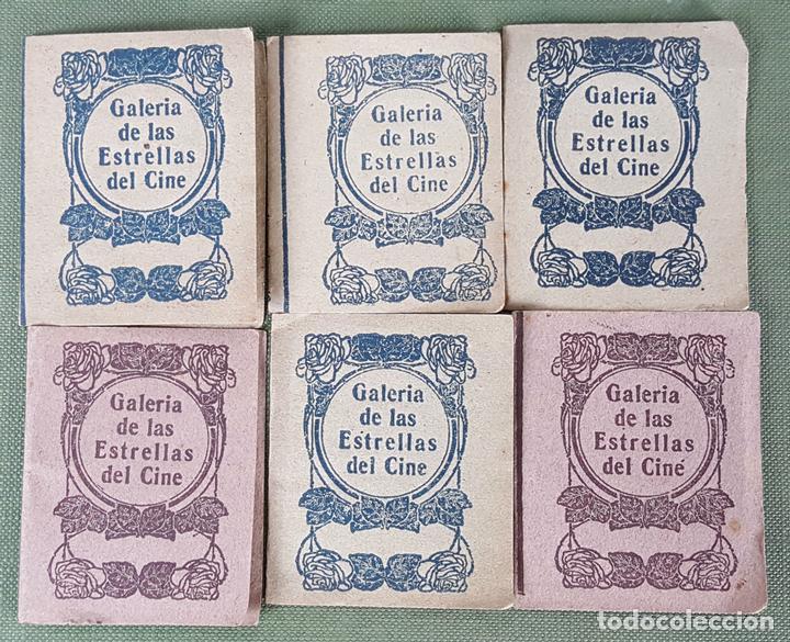 COLECCION DE 6 CROMOS. GALERIA DE LAS ESTRELLAS DE CINE. CHOCOLATES AMATLLER. AÑOS 40. (Coleccionismo - Cromos y Álbumes - Cromos Antiguos)