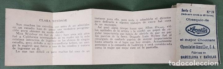 Coleccionismo Cromos antiguos: COLECCION DE 6 CROMOS. GALERIA DE LAS ESTRELLAS DE CINE. CHOCOLATES AMATLLER. AÑOS 40. - Foto 4 - 122742859