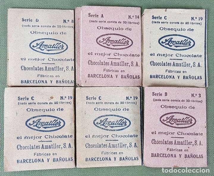 Coleccionismo Cromos antiguos: COLECCION DE 6 CROMOS. GALERIA DE LAS ESTRELLAS DE CINE. CHOCOLATES AMATLLER. AÑOS 40. - Foto 5 - 122742859