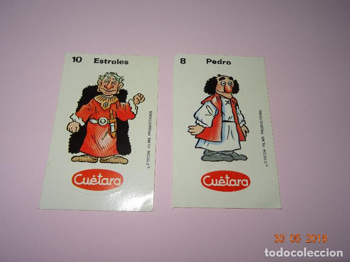 Coleccionismo Cromos antiguos: Antiguos 2 Cromos Adhesivos AURONES Premium de CUÉTARA - Foto 2 - 122831095
