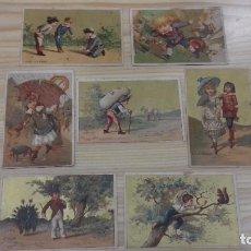 Coleccionismo Cromos antiguos: ULTRA RAROS CROMOS CARNICERÍA MODELO FINALES XIX PRINCIPIOS XX. Lote 122857079