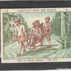 Coleccionismo Cromos antiguos: ANIS DEL MONO .- LA LOCOMOCION TERRESTRE A TRAVES DE LOS TIEMPOS .- 3B Nº 51. Lote 124030791