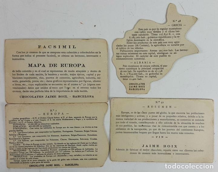 Coleccionismo Cromos antiguos: COLECCIÓN DE 43 CROMOS. CHOCOLATES SAN FERNANDO Y CHOCOLATES JAUME BOIX. CIRCA 1940. - Foto 8 - 124701107