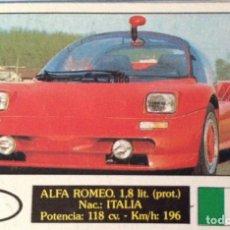 Coleccionismo Cromos antiguos: CROMO AUTOCOLOR ALFA ROMEO 1,8L.. Lote 125137295